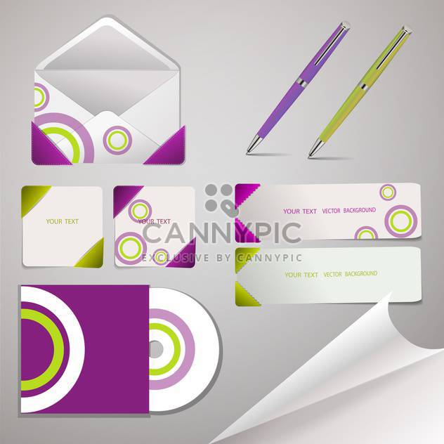 Vector template of professional corporate identity kit - Free vector #130135