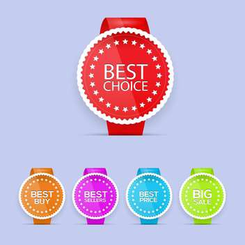 Best choice, best buy, best price and best sale tags - Kostenloses vector #130145