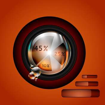 vector glossy diagram and pie chart - vector gratuit #130255