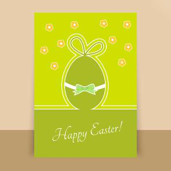 paper happy easter egg card - vector #130275 gratis