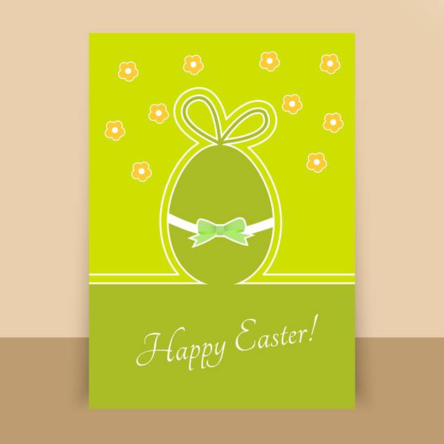 paper happy easter egg card - Free vector #130275