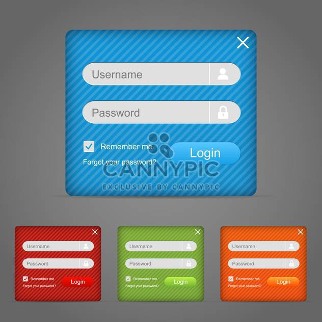 Web-Login Form Vektorelement - Kostenloses vector #130285