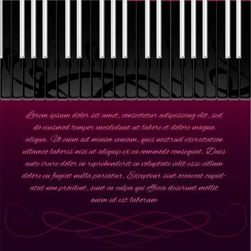 piano keyboard with space for text - vector gratuit #130335