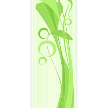 abstract banner with green floral pattern - vector #130355 gratis