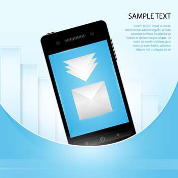 Mobile Phone with message icon - vector gratuit #130385