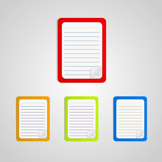 Set with colored notebooks isolated on white background - vector gratuit #130395