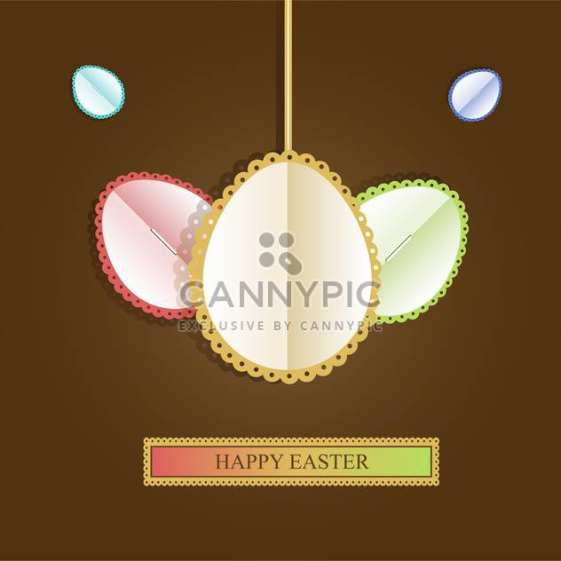 Happy easter greeting card - Free vector #130405