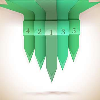 Green numbered arrows background - vector gratuit #130445