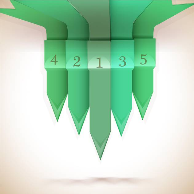 Green numbered arrows background - vector #130445 gratis