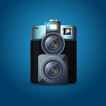 Vintage photo camera vector illustration - vector gratuit #130455