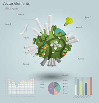 industrial infographic elements with residential areas - vector gratuit #130495