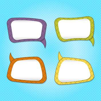 Vector set of colorful speech bubbles on blue background - Free vector #130545