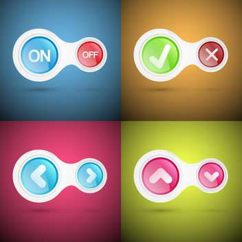 Vector set of colorful buttons - vector gratuit #130585