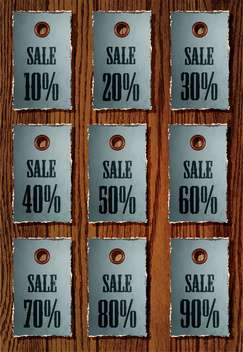 Vector set of sale retro price tags - vector gratuit #130595