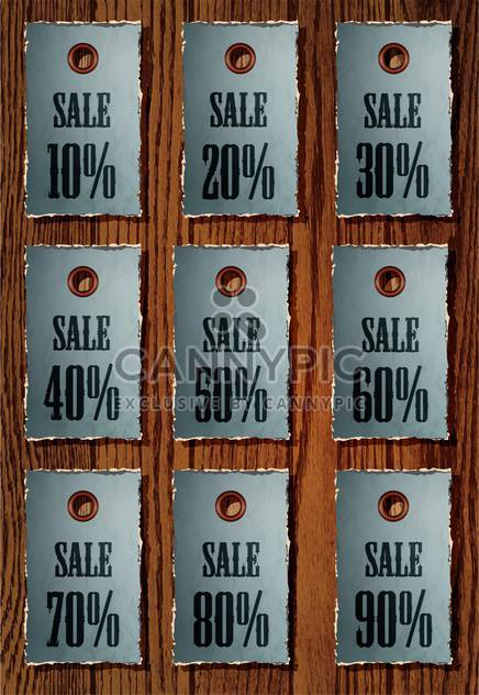Vector set of sale retro price tags - Free vector #130595
