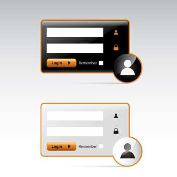 user login on grey background - бесплатный vector #130615