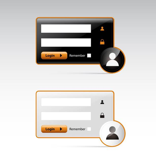 user login on grey background - Free vector #130615