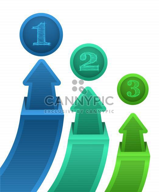 vector illustration of colorful arrows on white background - Free vector #130655