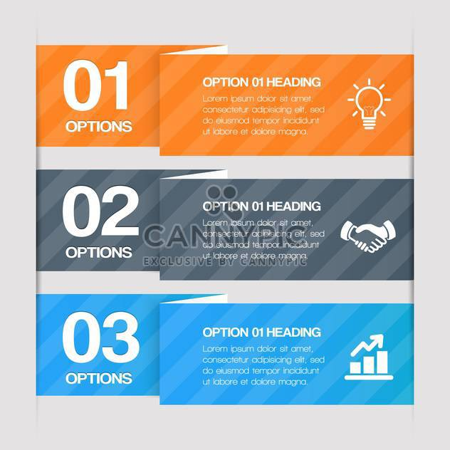 step by step web elements with text place - Free vector #130675