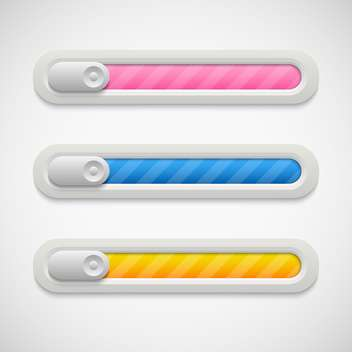 Vector colorful volume bar on grey background - vector #130685 gratis