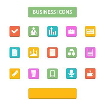 vector illustration of business icons - vector gratuit #130725