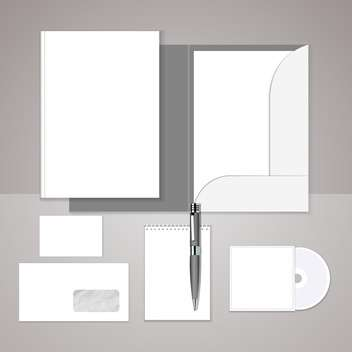 vector set of templates corporate identity on grey background with text place - vector gratuit #130775
