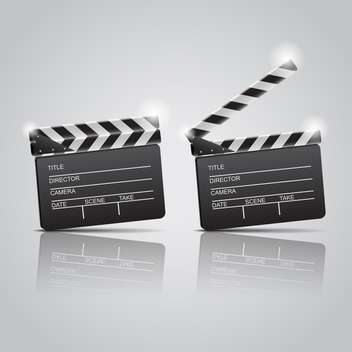 Film clap boards cinema on grey background - vector gratuit #130815