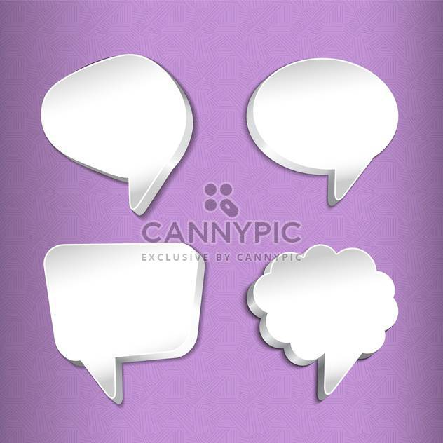 Vector set of speech bubbles illustration - Free vector #130845