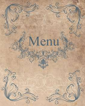 Restaurant menu design vector background - vector gratuit #130855