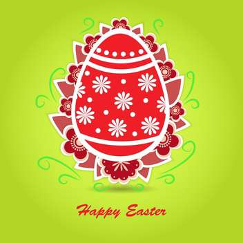 Happy easter greeting card vector illustration - Free vector #130885