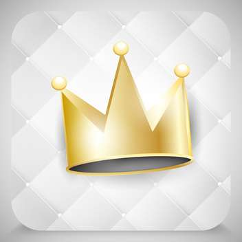 Vector golden crown illustration - vector gratuit #130895