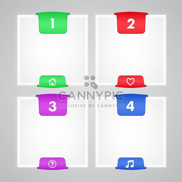 Four colorful banners vector illustration - Free vector #130925