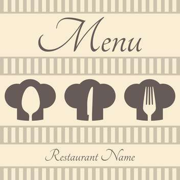 Restaurant sign menu with spoon, fork and knife - vector #130955 gratis