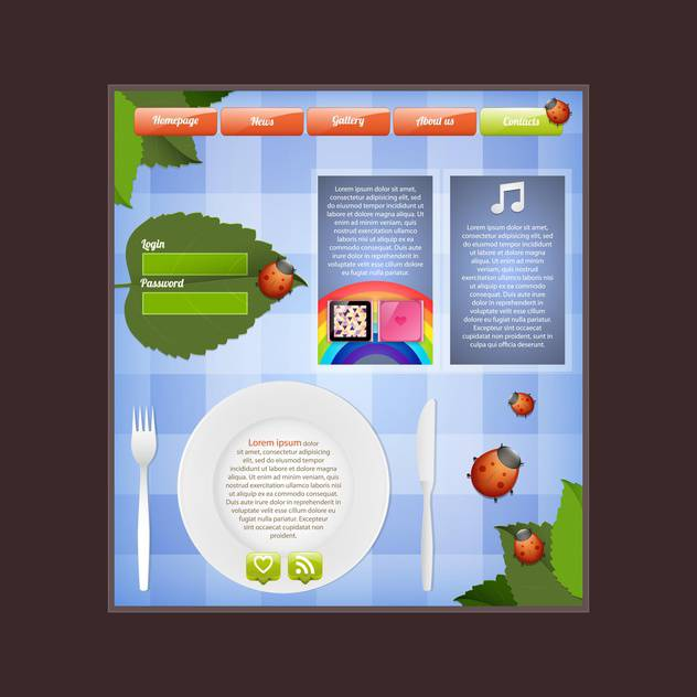 Editable web template vector illustration - vector gratuit #130985