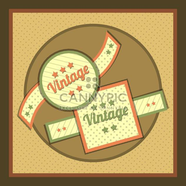Vector collection of vintage and retro labels - Free vector #131005