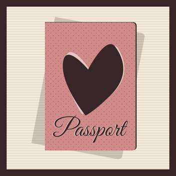 Retro style passport cover vector illustration - Free vector #131015
