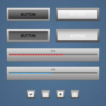 Modern color loading bars set - vector gratuit #131025