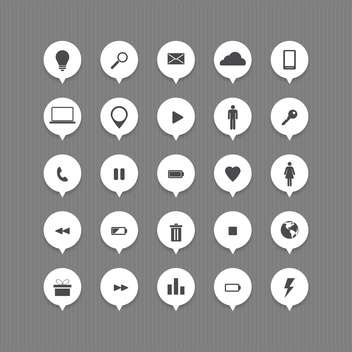Computer and internet web icons buttons set - vector gratuit #131035