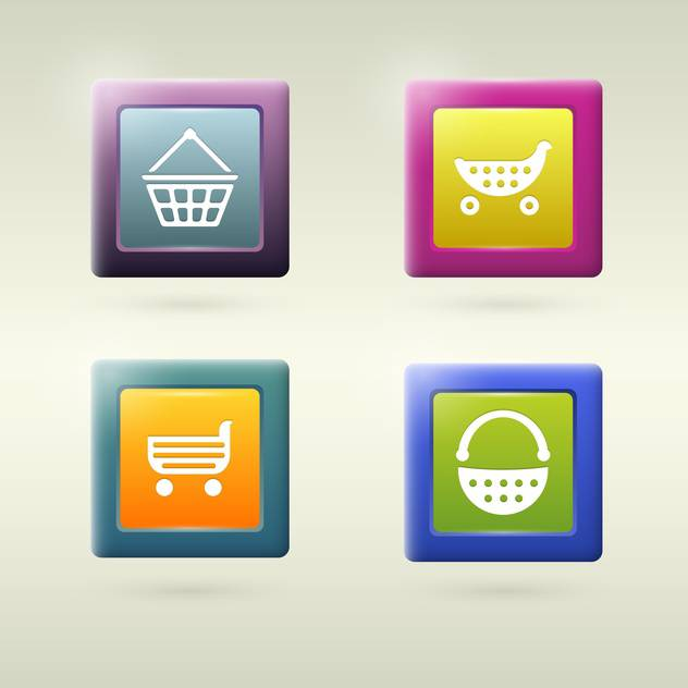 Set of shopping cart icon variations - Free vector #131055