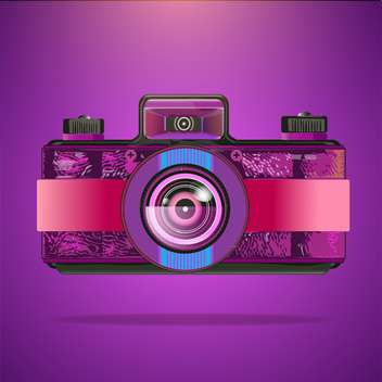 Vector purple retro camera illustration - Free vector #131065