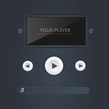 Vector multimedia player template - vector gratuit #131105