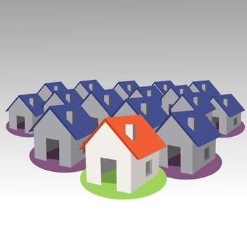 Houses icons vector collection - Free vector #131135