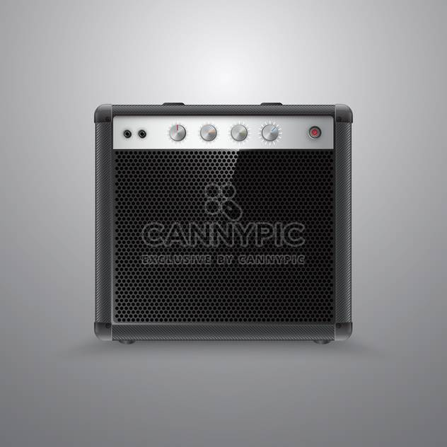 Vector guitar combo on grey background - Free vector #131215