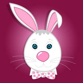 Cute funny bunny vector illustration - Free vector #131245