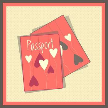 Heart passport covers vector illustration - vector #131275 gratis