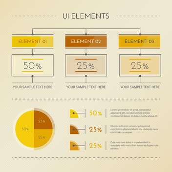 Detail infographic vector illustration - vector gratuit #131315