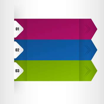 Banners with numbers vector illustration - vector gratuit #131425