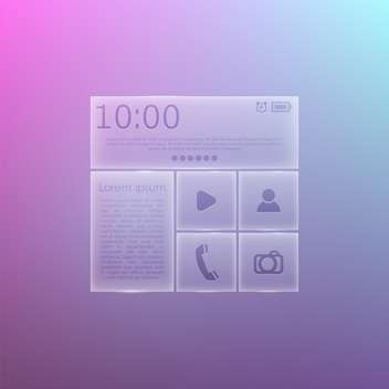Mobile phone menu icons on gradient background - vector gratuit #131435