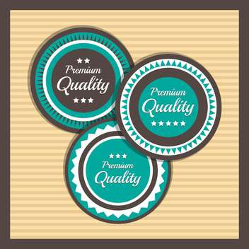 Collection of premium quality labels with retro vintage styled design - vector #131465 gratis
