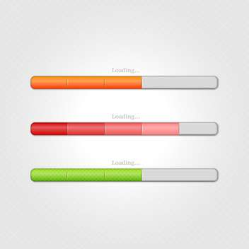 Vector loading bars on grey background - vector gratuit #131655